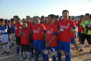 Para pemain Sihat FC berpose