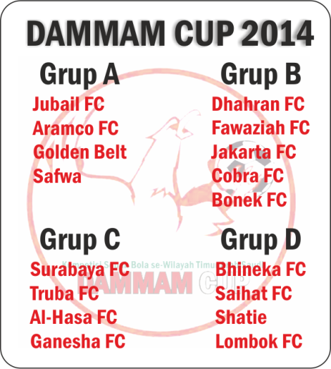 Pembagian Grup Dammam Cup 2014